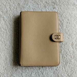 Chanel Beige Small Leather Planner